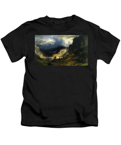 A Storm In The Rocky Mountains Mt. Rosalie Kids T-Shirt