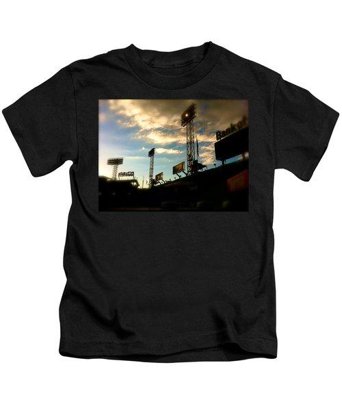 Fenway Lights Fenway Park David Pucciarelli  Kids T-Shirt