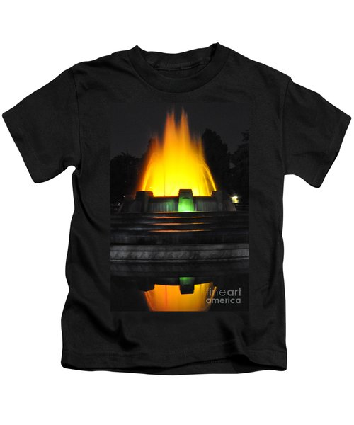 Mulholland Fountain Reflection Kids T-Shirt