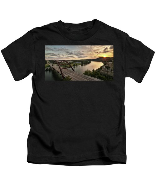 360 Bridge Sunset Kids T-Shirt
