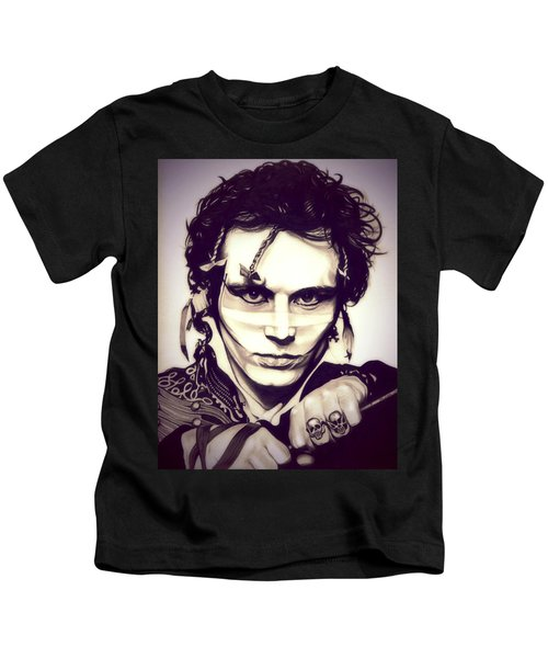 Adam Ant Kids T-Shirt by Fred Larucci
