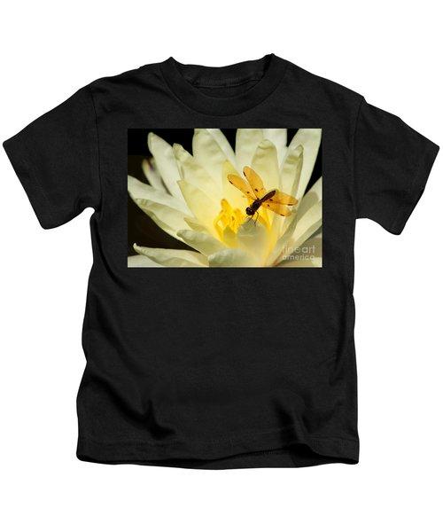 Amber Dragonfly Dancer 2 Kids T-Shirt