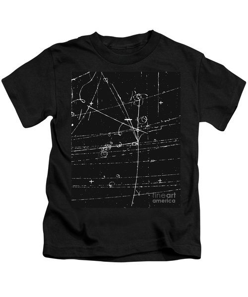 Antiproton Display, Bubble Chamber Event Kids T-Shirt