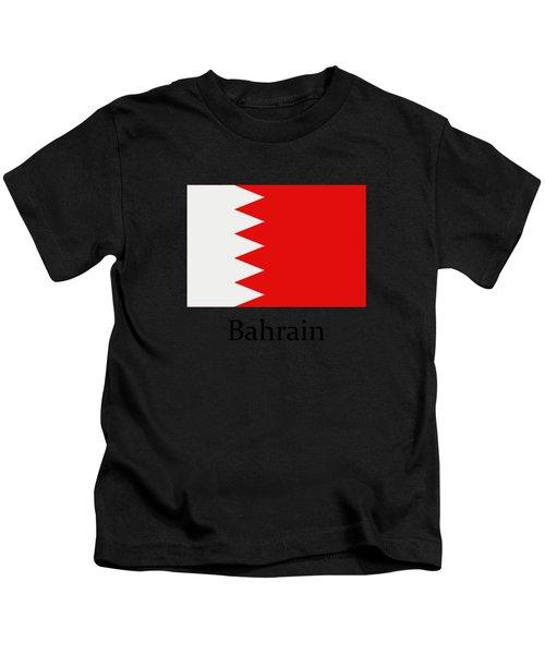 Bahrain Flag Kids T-Shirt