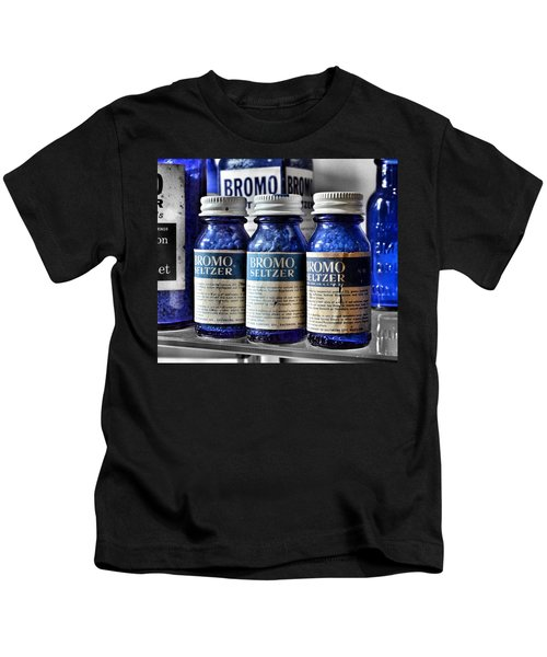 Bromo Seltzer Vintage Glass Bottles Collection Kids T-Shirt