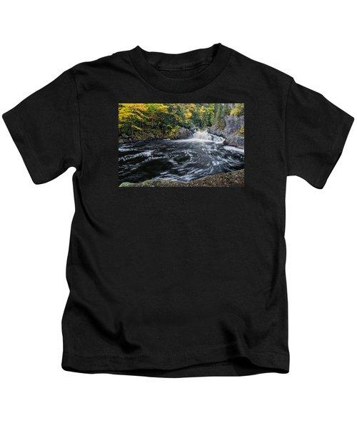 Buttermilk Falls Gulf Hagas Me. Kids T-Shirt