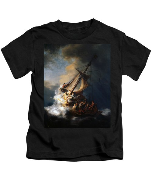 Christ In The Storm On The Lake Of Galilee Kids T-Shirt