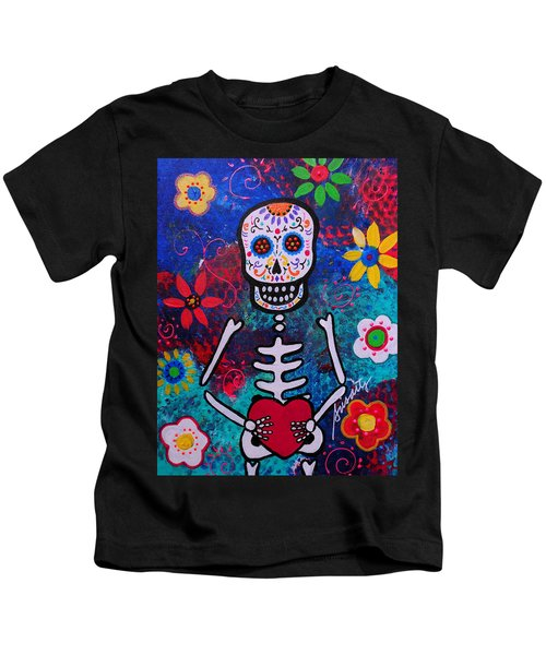 Corazon Day Of The Dead Kids T-Shirt
