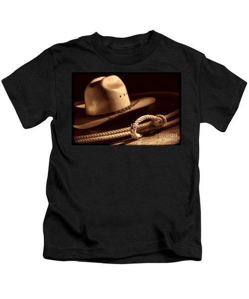 Cowboy Hat And Lasso Kids T-Shirt