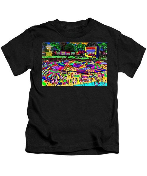Crowded Beach Kids T-Shirt