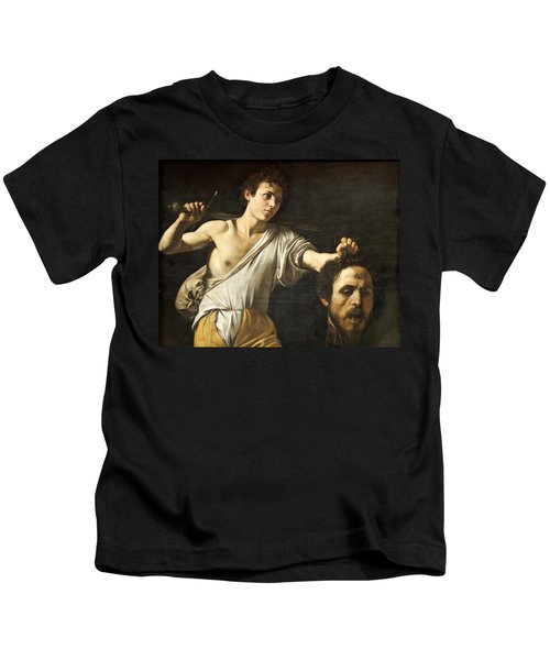 David With The Head Of Goliath Kids T-Shirt
