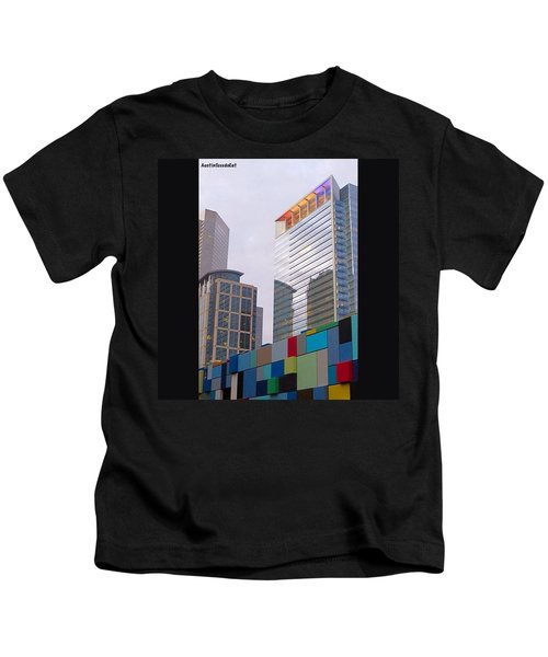 #downtown #houston From #discoverygreen Kids T-Shirt