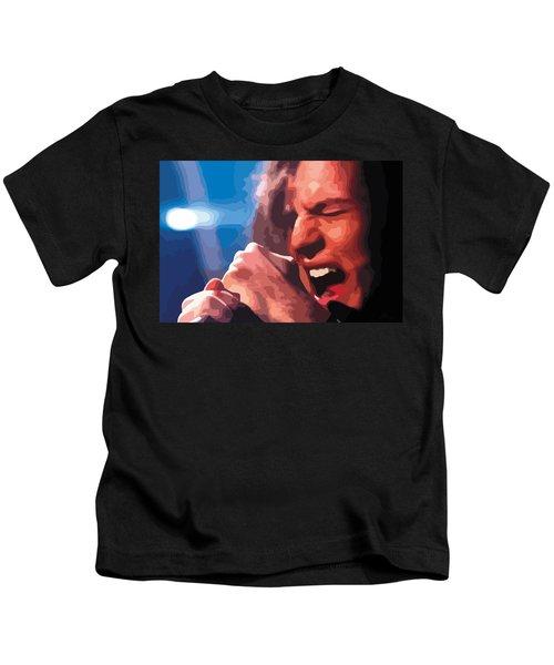 Eddie Vedder Kids T-Shirt by Gordon Dean II