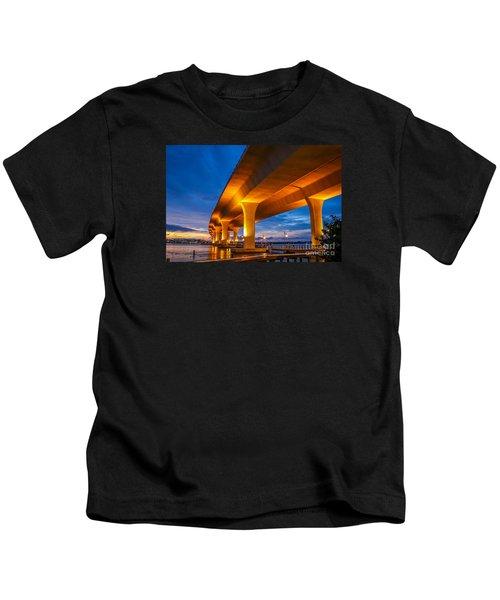 Evening On The Boardwalk Kids T-Shirt