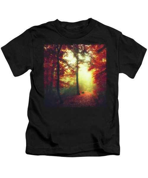 Fall Forest Mood Kids T-Shirt