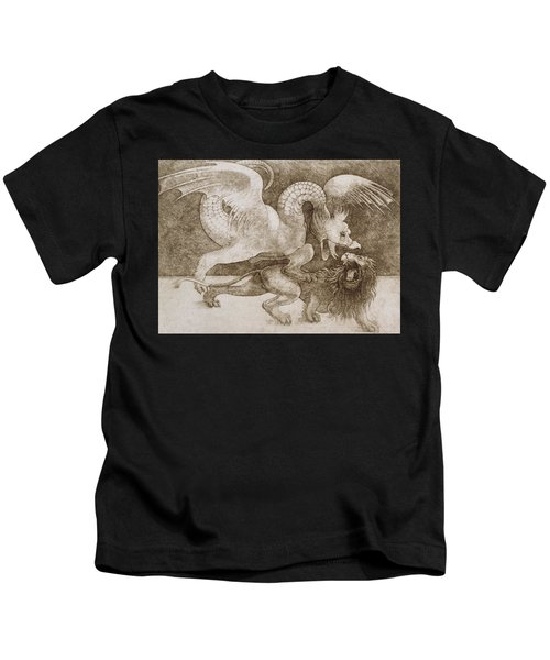 Fight Between A Dragon And A Lion Kids T-Shirt