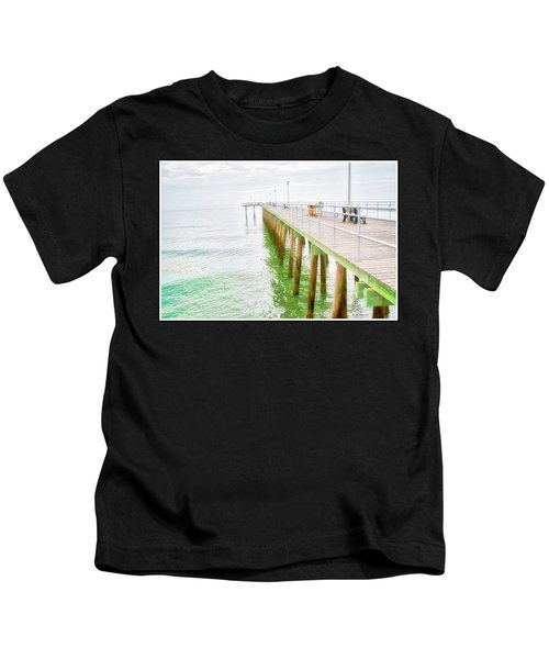 Fishing Pier, Margate, New Jersey Kids T-Shirt
