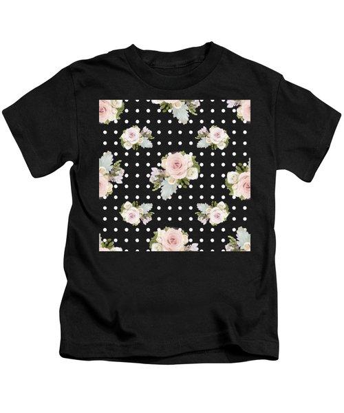Floral Rose Cluster W Dot Bedding Home Decor Art Kids T-Shirt