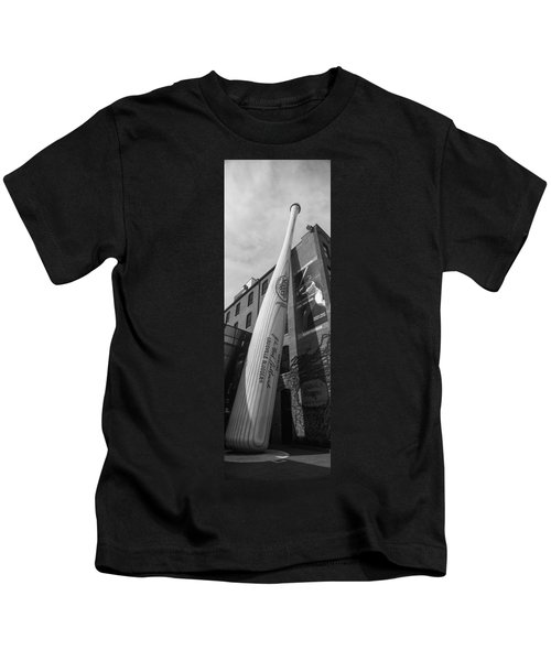 Giant Baseball Bat Adorns Kids T-Shirt