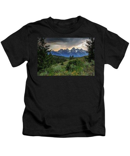 Grand Stormy Sunset Kids T-Shirt