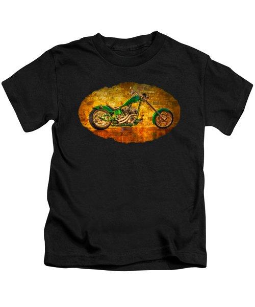 Green Chopper Kids T-Shirt by Debra and Dave Vanderlaan