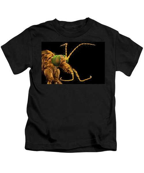 Green Eyed Crane Fly Kids T-Shirt