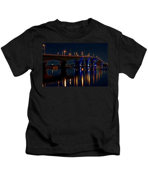 Hathaway Bridge At Night Kids T-Shirt