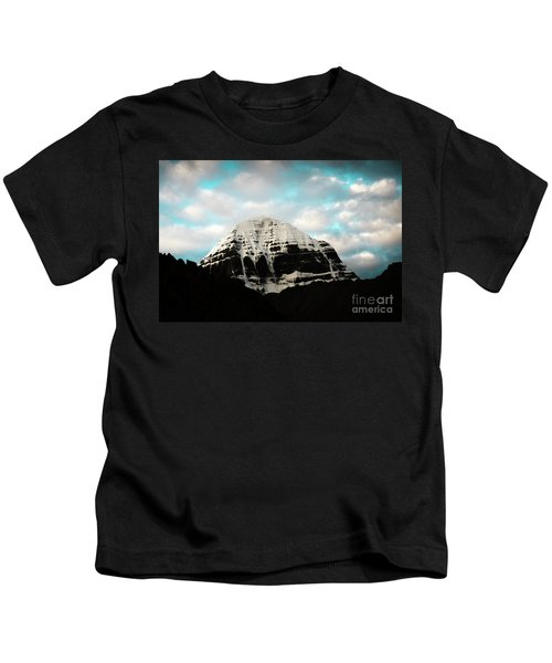 Holy Kailas East Slop Himalayas Tibet Yantra.lv Kids T-Shirt