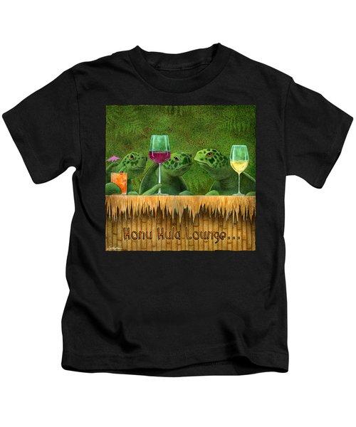 Honu Hula Lounge... Kids T-Shirt