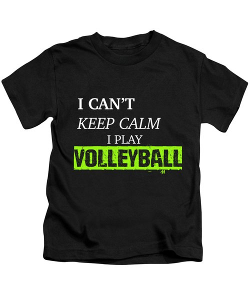 I Play Volleyball Kids T-Shirt by Meli Mel