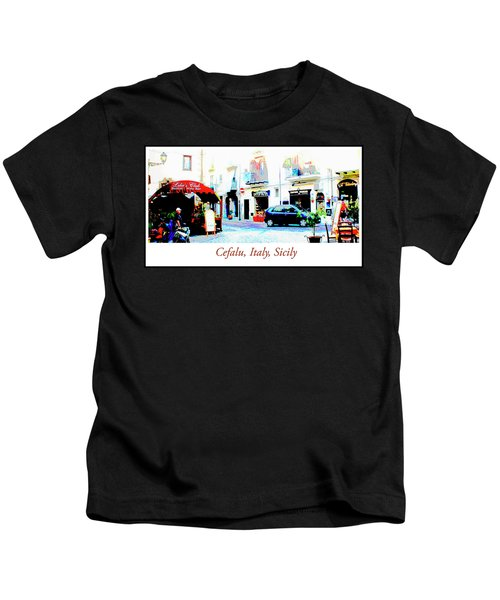 Italian City Street Scene Digital Art Kids T-Shirt