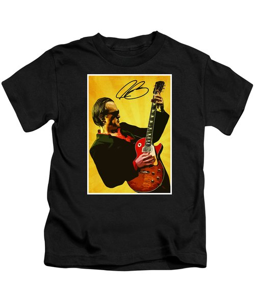 Joe Bonamassa Kids T-Shirt by Semih Yurdabak