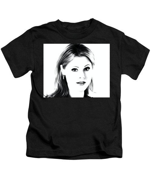 Julie Bowen Art Print Kids T-Shirt