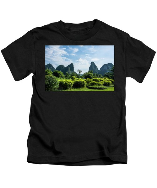 Karst Mountains Scenery Kids T-Shirt
