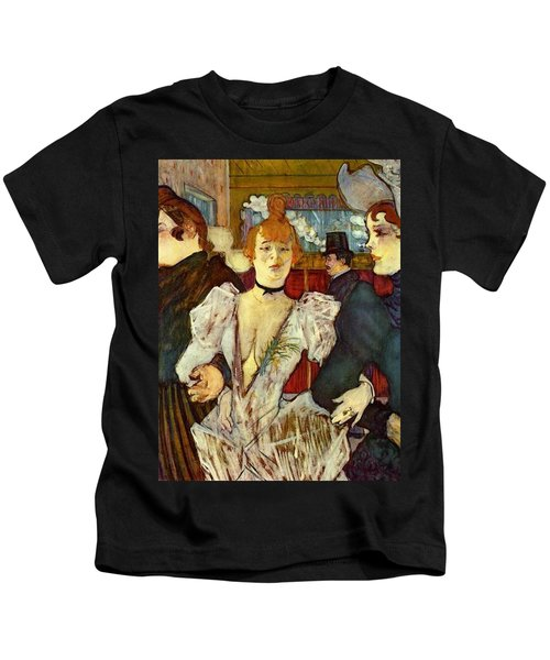 La Goulue Arriving At The Moulin Rouge With Two Women Kids T-Shirt