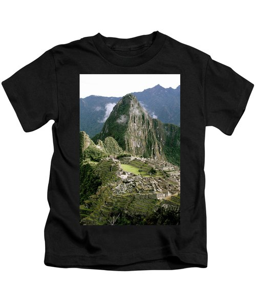 Machu Picchu At Sunrise Kids T-Shirt