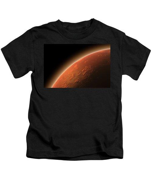 Mars In Space Kids T-Shirt