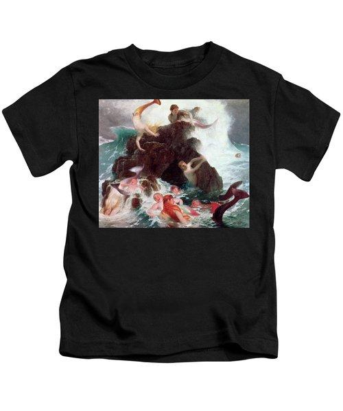 Mermaids At Play  Kids T-Shirt