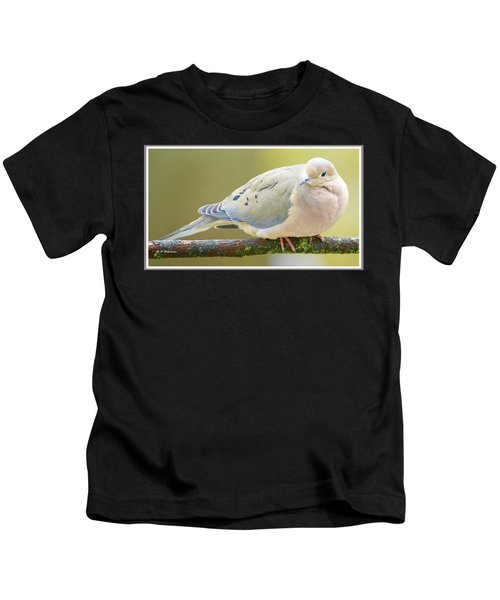 Mourning Dove On Tree Branch Kids T-Shirt
