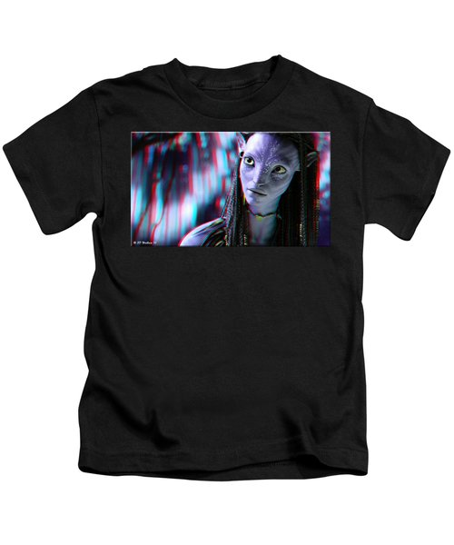 Neytiri - Use Red And Cyan 3d Glasses Kids T-Shirt
