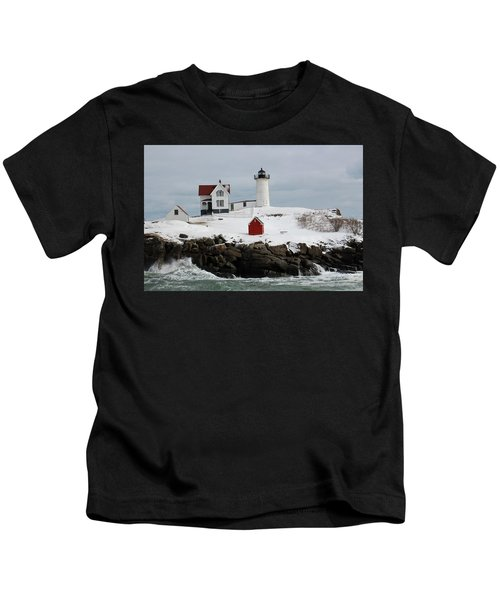 Nubble Point Maine Kids T-Shirt