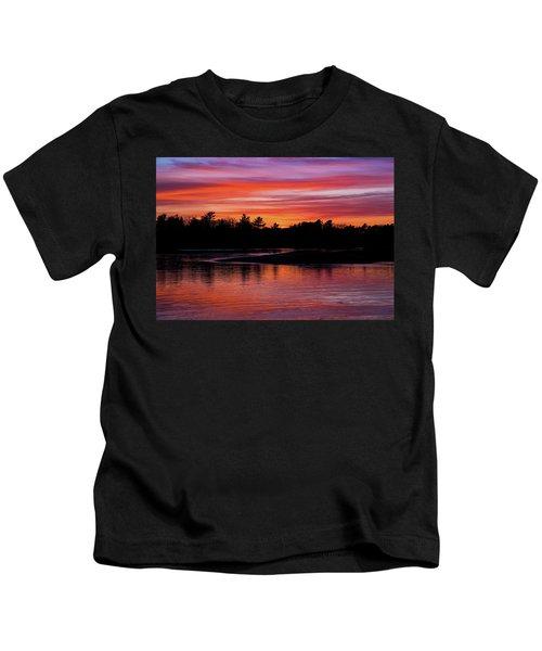 Odiorne Point Sunset Kids T-Shirt