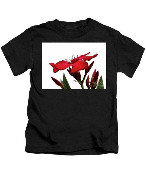 Oleander Blood-red Velvet 3 Kids T-Shirt