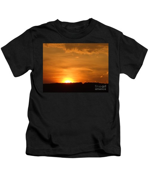 Orange Sunset  II Kids T-Shirt