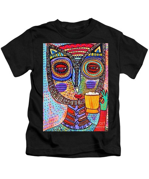 Owl Goddess Drinking Hot Chocolate Kids T-Shirt