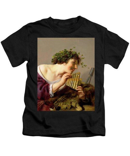 Pan Playing His Pipes Kids T-Shirt