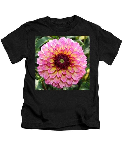 Pink Dahlia Kids T-Shirt