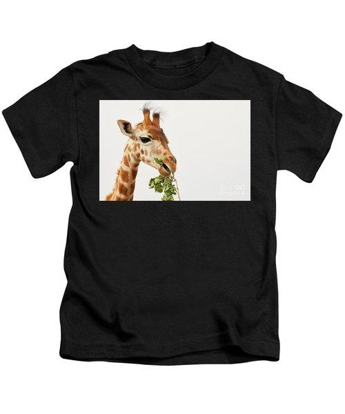 Portrait Of A Rothschild Giraffe  Kids T-Shirt