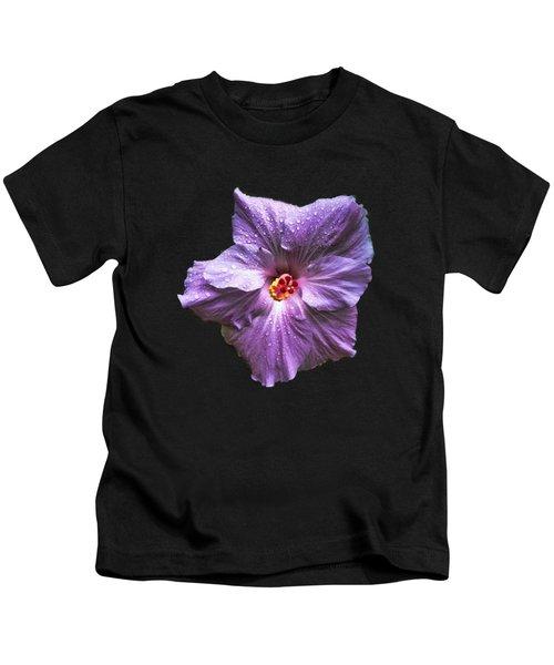 Purple Hibiscus Kids T-Shirt