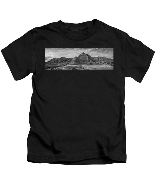 Pyramid In The Badlands Panorama Kids T-Shirt